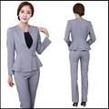 Mujeres oficina traje pantalón 2016 otoño invierno para mujer trajes de negocios oficina Formal de trabajo damas elegantes pantalones conjuntos M XL XXL XXXL