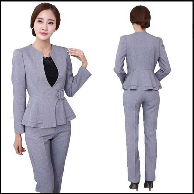 Aliexpress.com  Buy Women Office Pant Suit 2016 Autumn Winter Womens Business Suits Formal ...