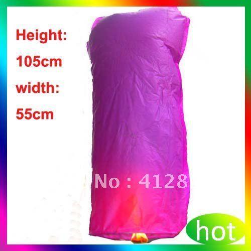 Cylindrical Shape 20 pcs/Lot Mix Color Wishing Sky Lanterns For Wedding Free shipping