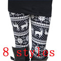 Top Selling Winter And Autumn Christmas Leggings  Fashion Women Lady Elasticity Skinny Tribal Printed Stretchy Pants Leggings