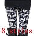 Top Vendendo Outono E Inverno Natal Leggings Mulheres Da Moda Senhora Elasticidade Skinny Tribal Impresso Stretchy Calças Leggings