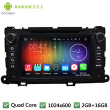 Quad Core WIFI DAB+ Android 5.1.1 2Din 8″ 1024*600 Car DVD Player Stereo Radio PC Audio Screen GPS For Toyota Sienna 2009-2013