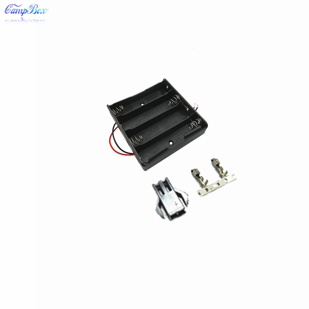 50Pcs 4x18650 Battery Case Holder Socket Wire Junction Box With 15cm Wires SM 2 54 Header
