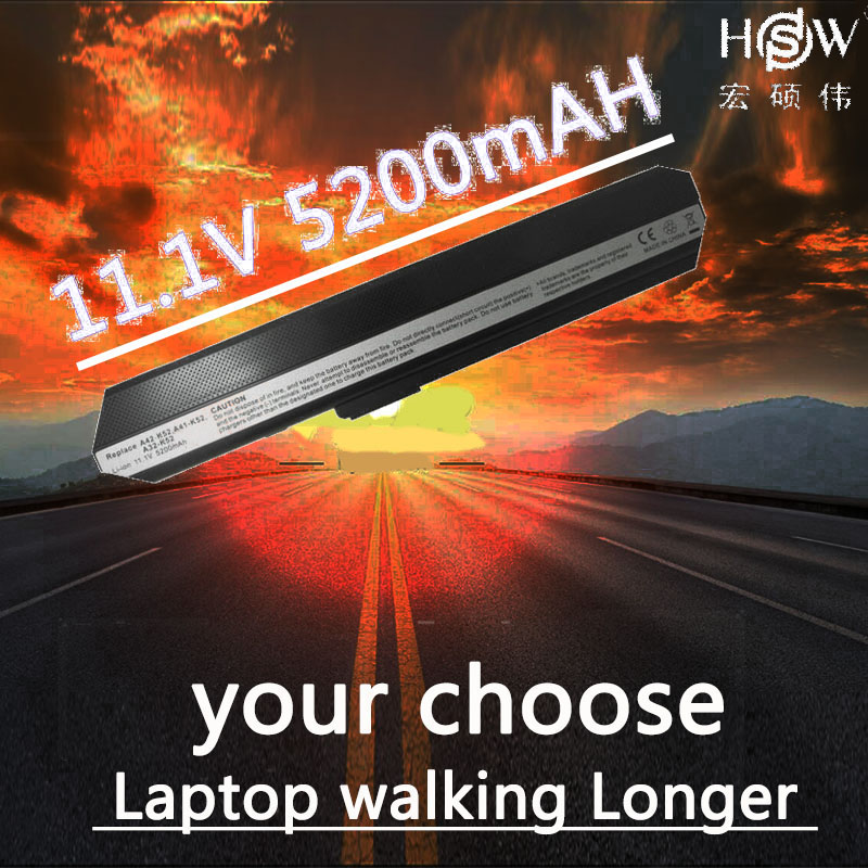 HSW 5200MAH 6cell laptop battery for asus K52J K52F A31-K52 A32-K52 A42-K52 A52F A52J A52JR A52JK K42F K42JB K42JR K42JV X52J kingsener japanese cell a32 k52 battery for asus a52 a52f a52j k52 k52d k52dr k52f k52j k52jc k52je k52n a41 k52 a31 k52 a42 k52