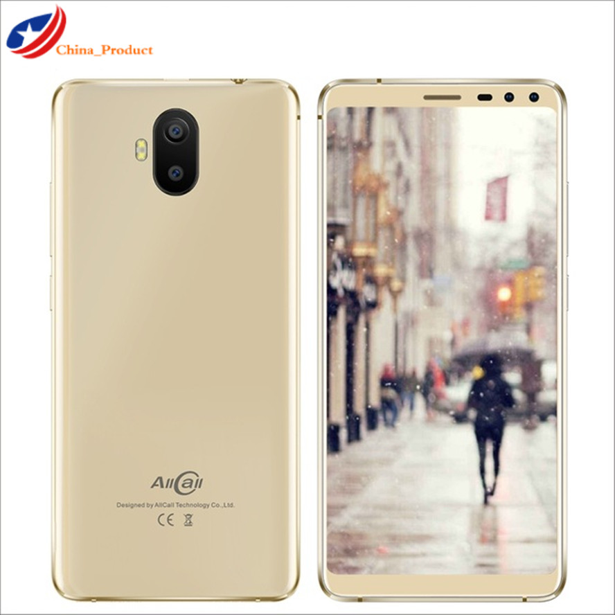 Original New Allcall S1 Smart Phone Android 8.1 18:9 5.5'' MT6580 Quad Core Cellular 2GB+16GB Dual SIM Cards WCDMA GSM Cellphone