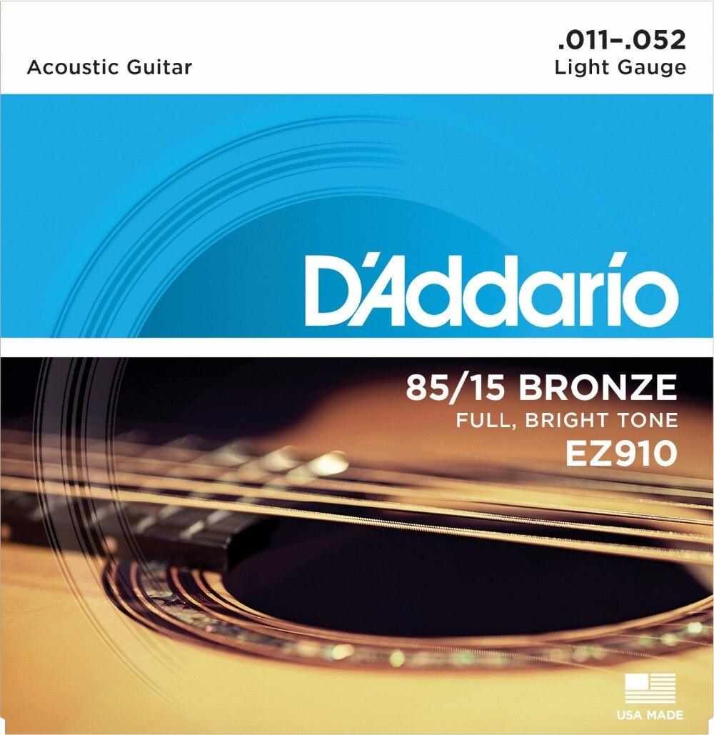D'Addario Great American Bronze 85/15 akoestische gitaarsnaren, Made - Muziekinstrumenten - Foto 2