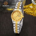 StarKing Ladies Quartz Gold Watches Diamond Women Bracelet Wristwatch Luxury Dress roleingly Watch BL0646 montre femme de marque