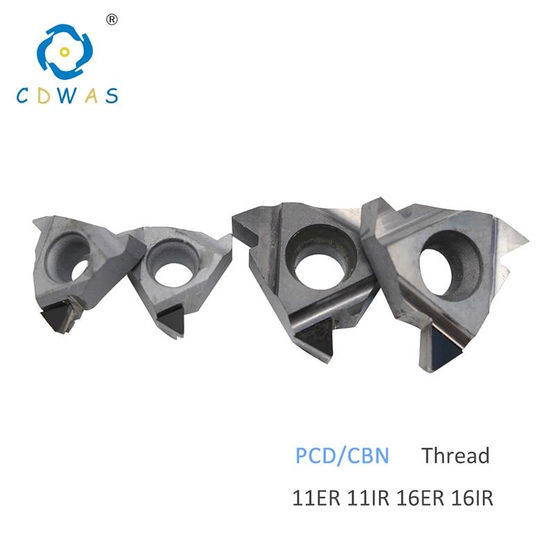 11ER 11IR 16ER 16IR A55 A60 AG55 AG60 PCD CBN Threading Diamond Inserts Thread Turning Tool CNC Lathe Tool Blade