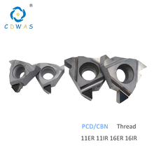 11ER 11IR 16ER 16IR A55 A60 AG55 AG60 PCD CBN Threading Diamond Inserts Thread Turning Tool CNC Lathe Tool Blade