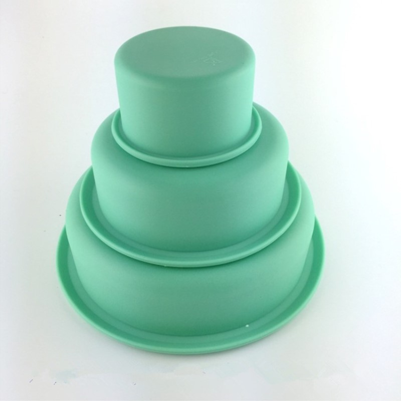 Three Layers Cake Mould Platinum Silicone Baking Pizza Mold Cake Decorating Tools