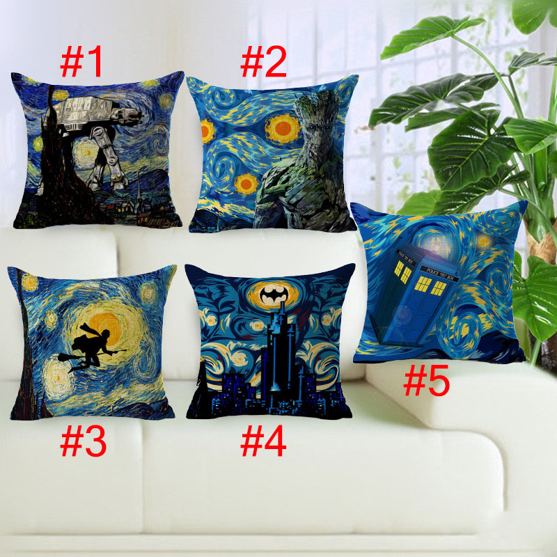 Halloween Style Cushion Cover Cotton Linen Void City Harry Potter Monster Home Deocrative Pillows Cover for Sofa Cojines
