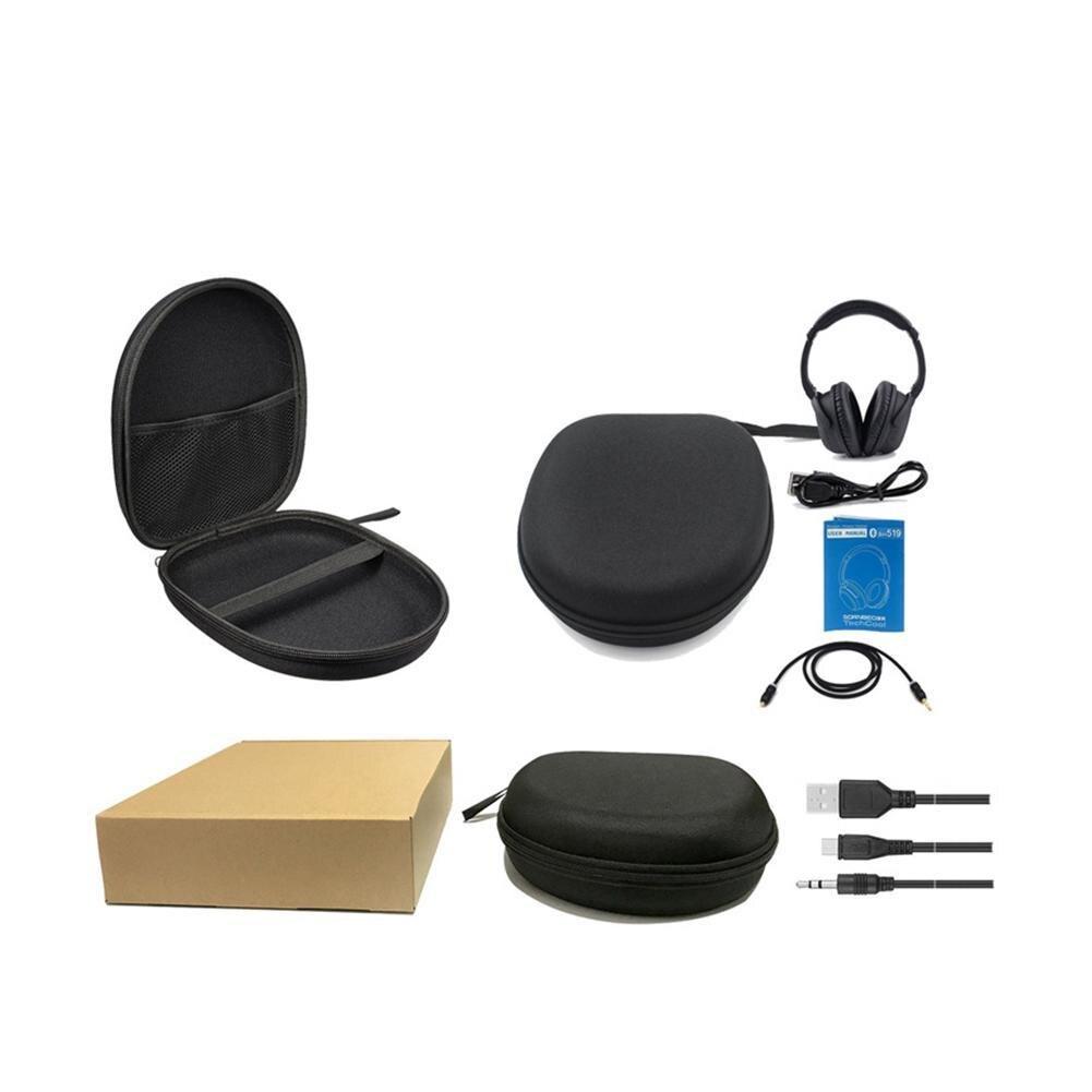 Активное шумоподавление, Bluetooth наушники с микрофоном, беспроводная стерео гарнитура, HiFi глубокий бас для работы, путешествия, ТВ, ПК, телефон - 6