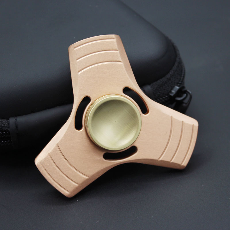 Copper Spinner Fidget Hand Spinners  Torqbar Puzzle Finger Toy EDC Focus ADHD Austim Learning Educational Stress Toy