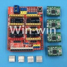 10 セット新 cnc シールド v3 彫刻機/3D プリンタ/+ 4 個 A4988 ドライバ拡張ボード
