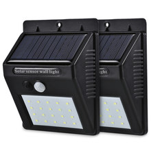 LED Solar Power PIR Motion Sensor Wall Light 20 LED Outdoor Waterproof Energy Saving Street Yard Path Home Garden Security Lamp(China)