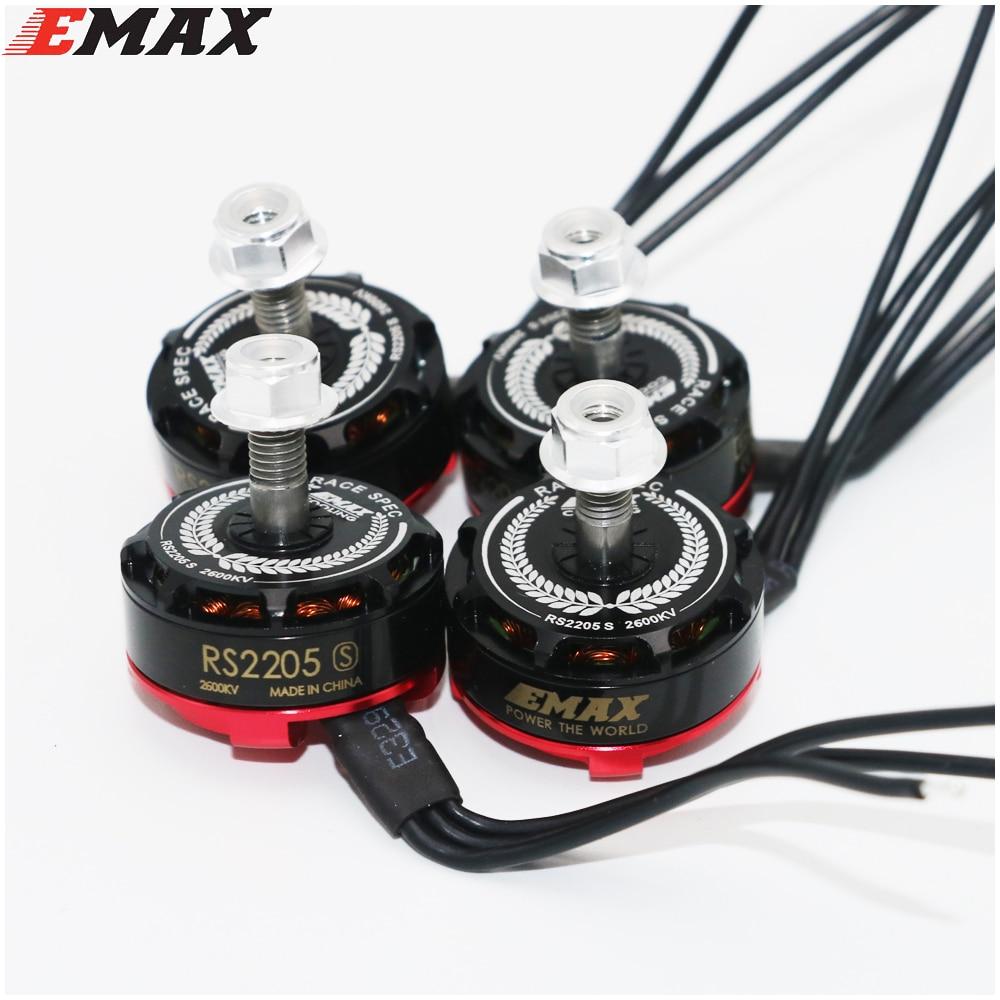 4set/lot Original EMAX RS2205S 2300KV Racing Edition Brushess Motor 3-4S for DIY mini drone QAVR250 quadcopter 4CW