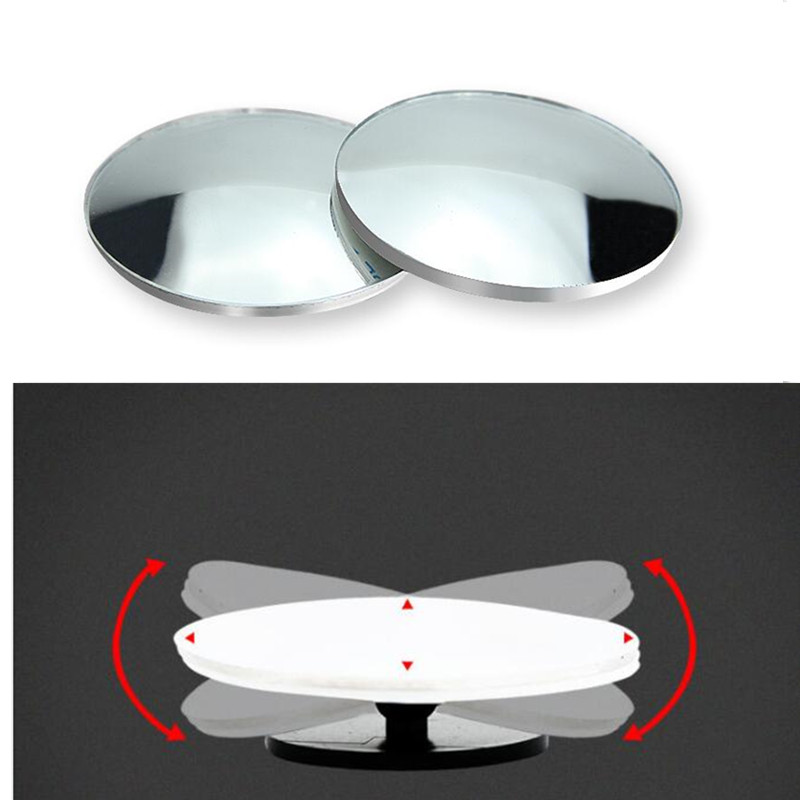 2PCS Car Round Blind Spot <font><b>Mirror</b></font> Accessories for bmw x3 f25 toyota renault scenic 2 citroen c4 picasso <font><b>peugeot</b></font> <font><b>206</b></font> 3008 mustang image