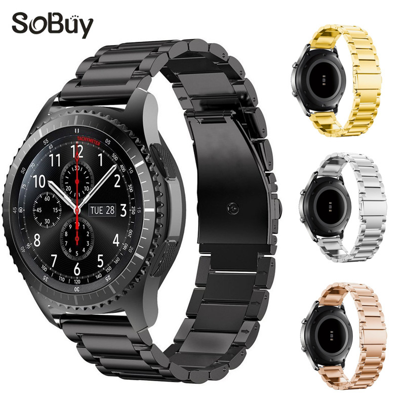 So buy for Samsung s3 band Gear sport s4 watchband stainless steel bracelet 20mm metal Wristband Gear S2 Smart Watch 22mm strap jansin 22mm watchband for garmin fenix 5 easy fit silicone replacement band sports silicone wristband for forerunner 935 gps