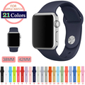 DALAN 1:1 original 21 Colores Colorido 42mm 38 Correa de Silicona para apple watch band sports pulsera hebilla serie 1 serie 2