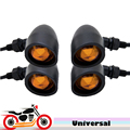 4x Motorcycle Motorbike Turn Signal Flasher Front Rear Indicator Light for  For Harley Davidson XL Sportster 1200 Custom