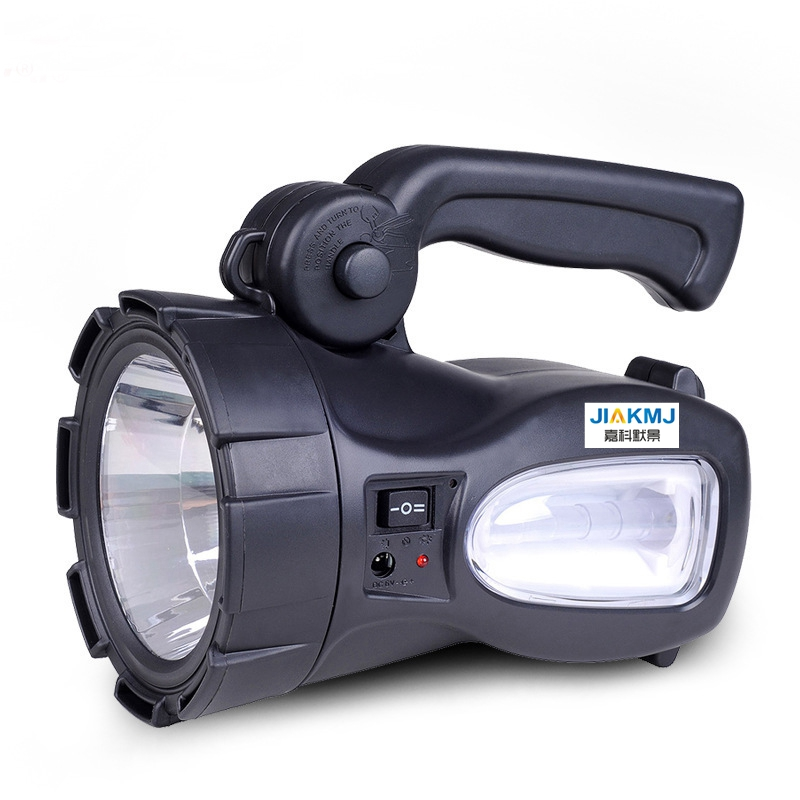 High quality Portable rechargeable highpower Searchlight with side light Long Range Outdoor Waterproof Flashlight Lamp Lantern