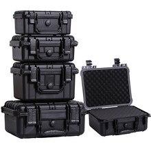 Caja de instrumentos de seguridad de plástico ABS sellada, equipo de seguridad impermeable, caja de herramientas portátil, caja seca, resistente a impactos con espuma precortada