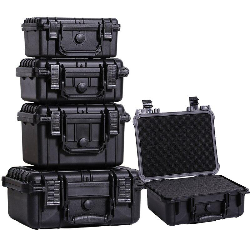 ABS Plastik Disegel Tahan Air Keselamatan Peralatan Instrumen Case Portable Kotak Alat Dry Box Tahan Benturan dengan Memotong Busa