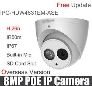 Image 2 - IPC HDW4831EM ASE 8MP IP kamera H.265 POE dahili Mic SD kart yuvası IP67 DH IPC HDW4831EM ASE IR Gözküresi ağ kamerası