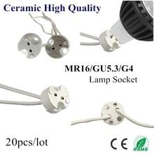 20X MR16 Holder Ceramic Lamp Base GU5 3 GU4 Socket LED CFL Halogen Light lamp holder