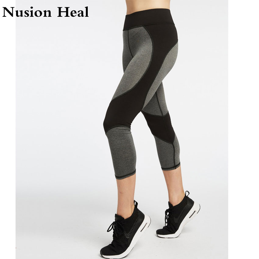Women Yoga Pants High Quality Slim Running Fitness Leggings Elastic Sexy Compression Tig ...