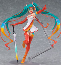 Hatsune Miku Hatsune Miku figma action figure Toy Collection Movie Anime lovely cartoon Racing girl children kid electronic pet(China)