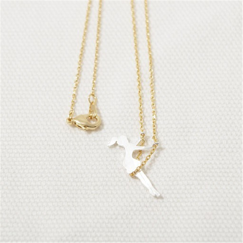 Necklaces & Pendants Systematic Fashion Little Girl Swing Pendant Necklace Necklaces For Women