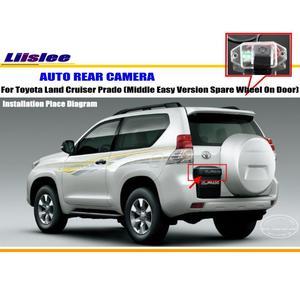 Car Reverse Camera For Toyota Land Cruiser Prado (Middle Easy Spare Wheel) Parking Back Up Camera / License Plate Light Camera