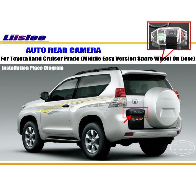 Liislee Pour Toyota Land Cruiser Prado (moyen Facile Roue De Secours)/par Parking Back Up Caméra/de Lumière de Plaque D'immatriculation dans Véhicule Caméra de Automobiles et Motos