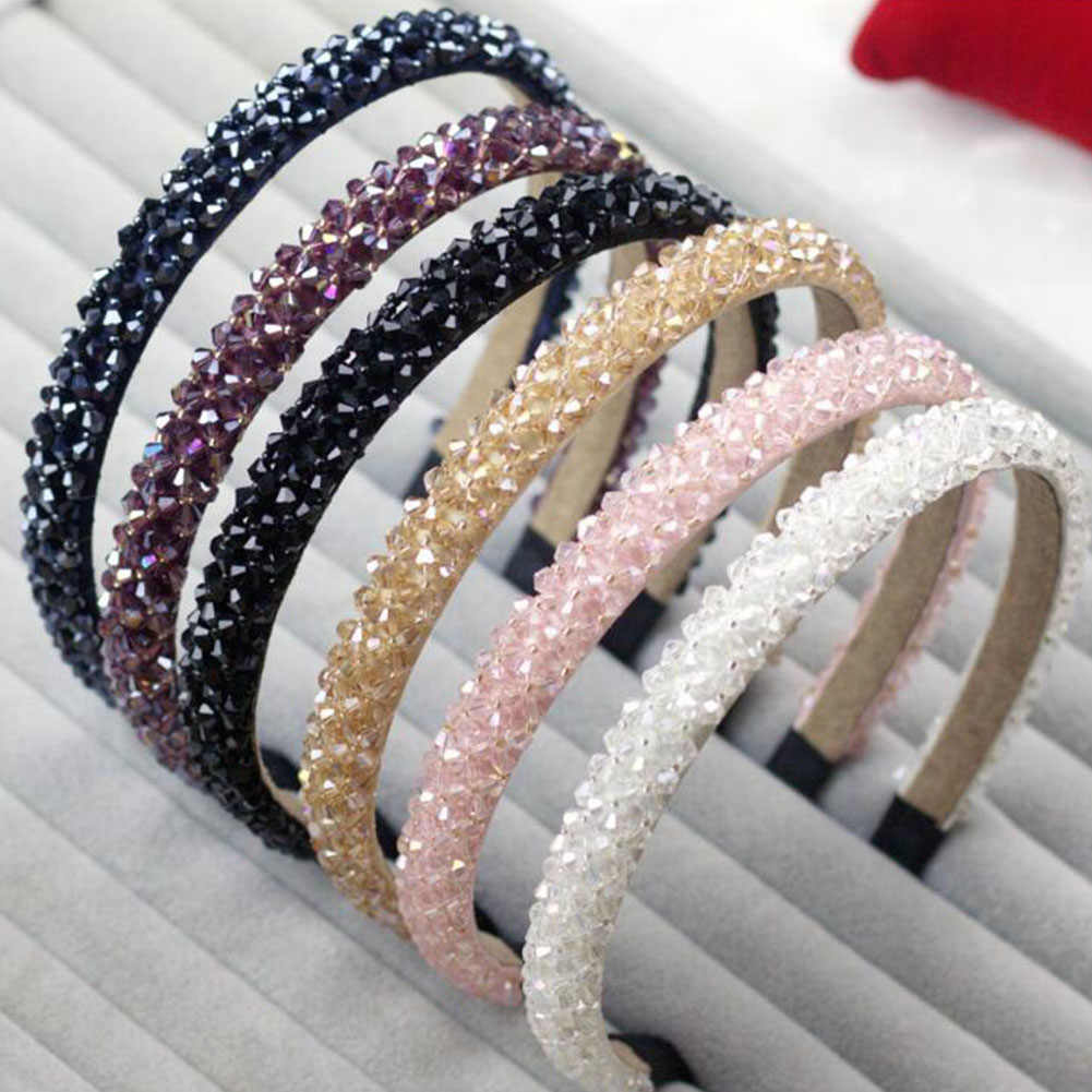 Girls Shiny Luxury Rhinestone Hair Band High Quality Diamond Hair Hoop Accessories for Women Crystal Headbands Ornaments