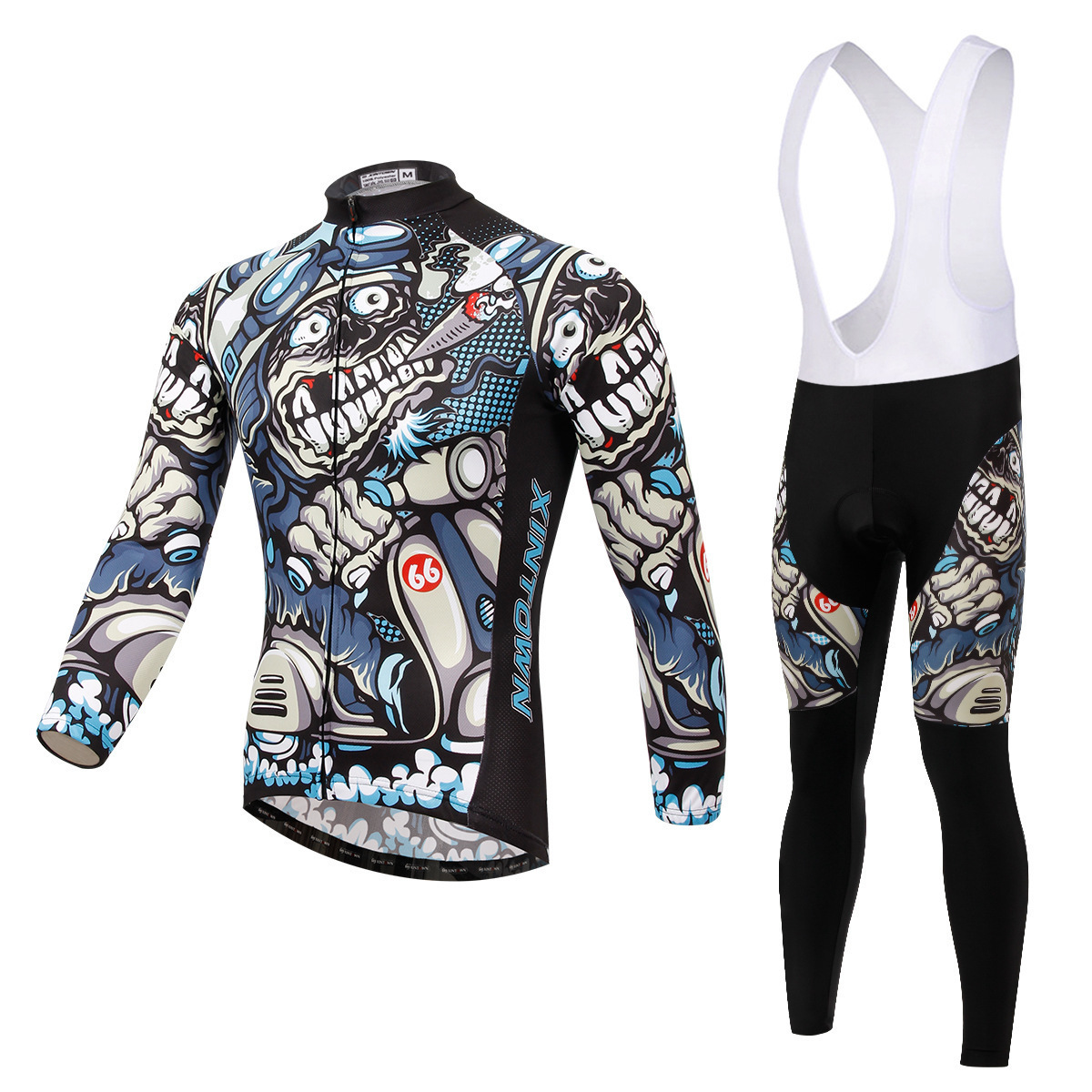 BOODUN Charge Riding Clothes Straps Long Sleeve Suit Bicycle Serve Catch Down Windbreak Keep Warm Function Underwear