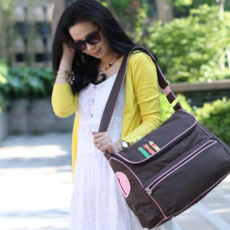 Nuevo estilo británico moda impermeable bolsa de pañales gran capacidad mensajero multifuncional maternidad madre cochecito de bebé bolsa bolsas