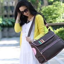 Новий британський стиль модний водонепроникний сумка підгузник Велика ємність Посланник багатофункціональний материнча матерія сумки дитячі коляски сумки