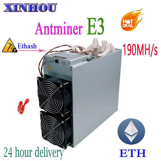 ETH Эфириума Шахтер Antminer E3 190MH/S Asic Ethash без БП ETH и т. д. горные машины лучше, чем S9 S9i T9 Innosilicon A10 A7 M3 M10