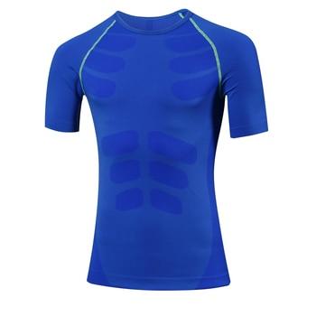 Clearance Logo Custom Compression Shirt workout Sport Running T-shirt Short Jogging tshirt Men Fitness Jersey Rashgard gym shirt Sports & Outdoors