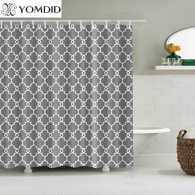 Waterproof Shower Curtains For Bathroom Home Decor Polyester Fabric