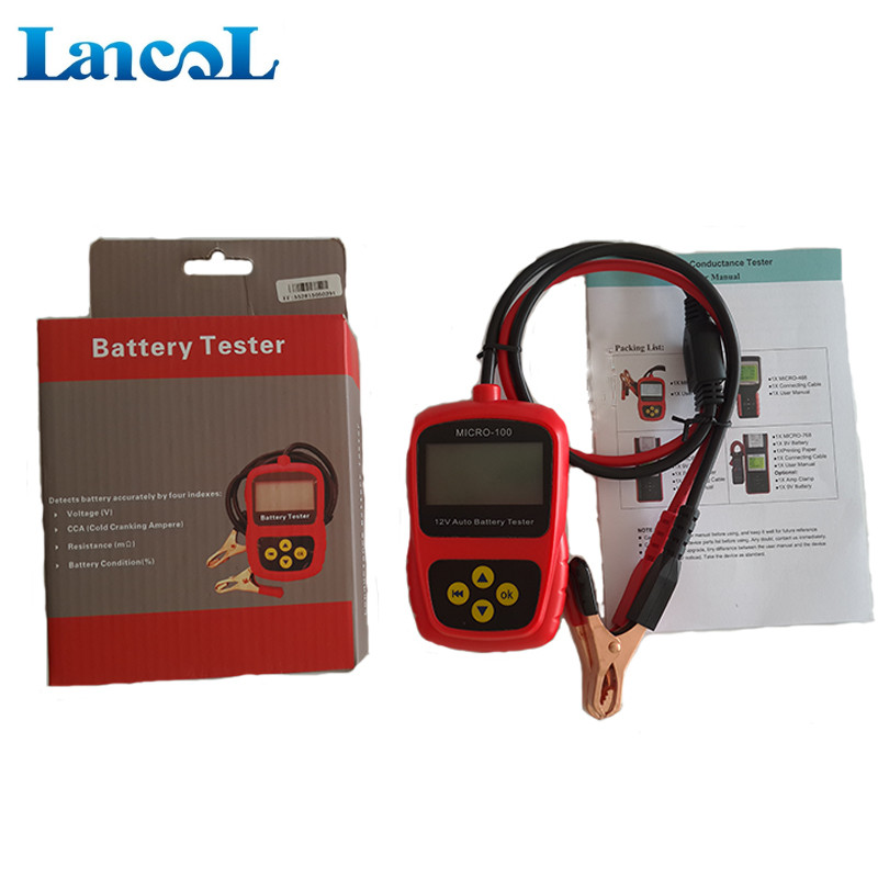 Lancol Automotive Multi Languages outillage automobile  12V Lead acid Battery Tester Micro 100 Battery analyzer Printer-in Battery Measurement Units from Automobiles & Motorcycles    1