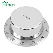 Кухонный таймер из нержавеющей стали с магнитной основой, ручной механический таймер для приготовления пищи, инструменты для приготовления пищи, кухонные гаджеты