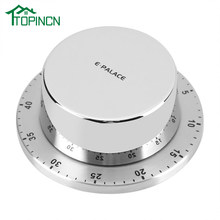 Stainless Steel Dapur Timer dengan Magnetic Base Manual Mekanis Memasak Timer Countdown Alat Memasak Dapur Gadget(China)