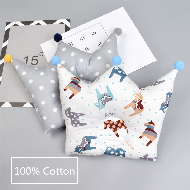 Baby Shaping Pillow Prevent Flat Head Infants Crown Dot Bedding Pillows Newborn Boy Girl Room Decoration Accessories DS19