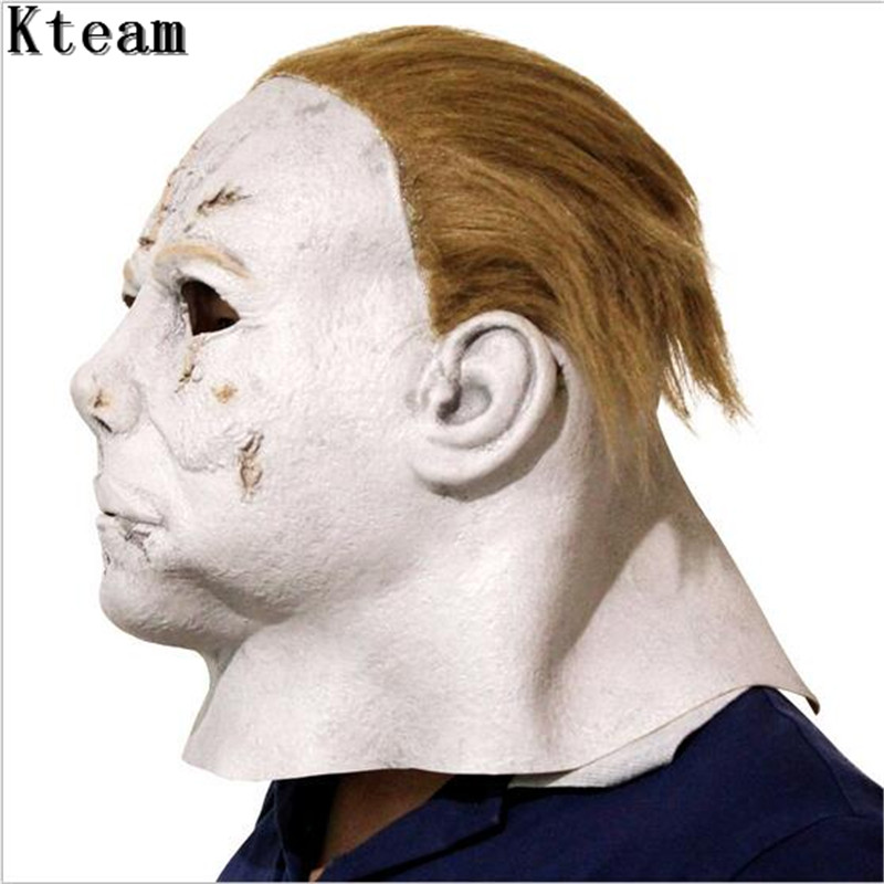 Hot Sale Halloween Carniaval Character Scary Movie Theme Face Mask Movie Cosplay Latex Michael Myers Mask Full Face Head Mask