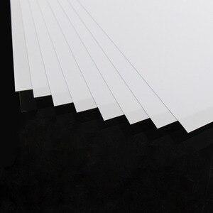 Image 2 - ABS0905 8Pcs 0.5มม.ความหนา200มม.X 250มม.ABS Styreneแผ่นสีขาวใหม่สถาปัตยกรรม