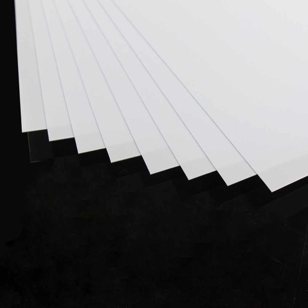 Image 3 - ABS0905 8pcs 0.5mm Thickness 200mm x 250mm ABS Styrene Sheets White NEW ArchitecturalModel Building Kits   -