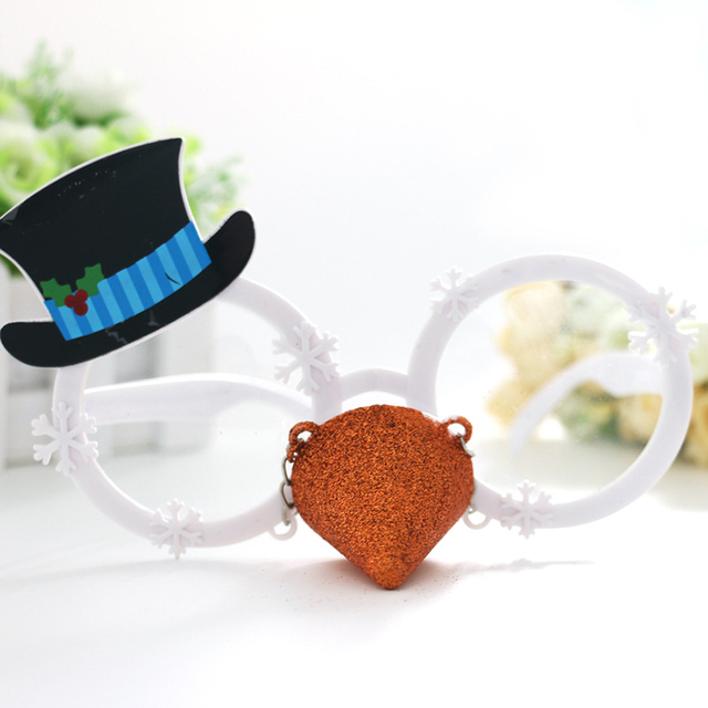 Christmas snowman modeling Frame Glasses Hat Gold Nose Spectacles ...