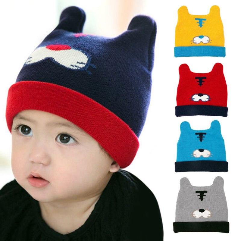 337c5656f Estilo de dibujos animados bebé sombrero Niños Niñas sombrero ...